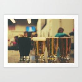 Beer Flight #2 Art Print