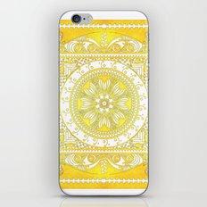 Golden Henna Mandala iPhone & iPod Skin