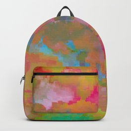 Abstract colorful background Backpack
