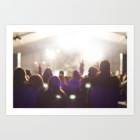 concert Art Prints featuring Concert by LaiaDivolsPhotography