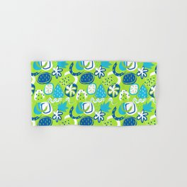 Brushstroke Abstracts - blue and green Hand & Bath Towel