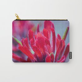 Indian Paintbrush Groovy Wildflower Carry-All Pouch