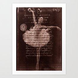 Ballerina III (brown edition) Art Print