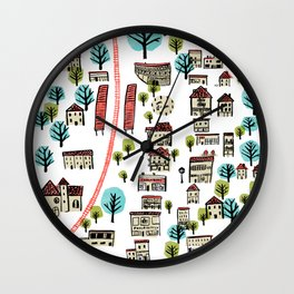 Narberth Surrounded Wall Clock
