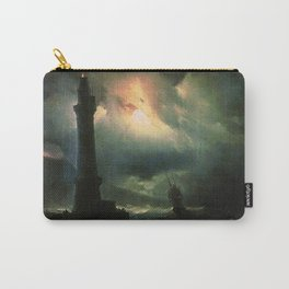 Ivan K  Aivazovsky — Neapolitan Lighthouse Carry-All Pouch