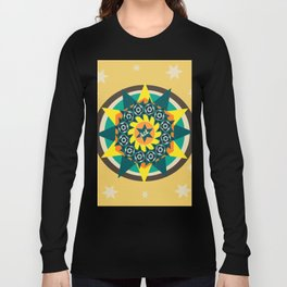 Stars mandala pattern Long Sleeve T-shirt