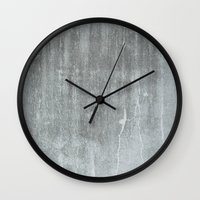 concrete Wall Clocks featuring CONCRETE by HUXHUX