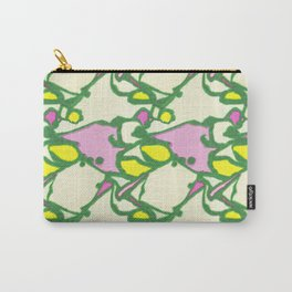 Watercolor Abstract Water Lillies in Pond Green Carry-All Pouch