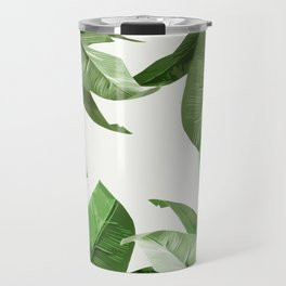 Tropical Palm Print Treetop Greenery Travel Mug