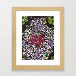 Stained Glass Flower Framed Art Print