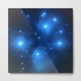 "The Pleiades (""The Seven Sisters"") (NASA/ESA/Palomar Observatory) Metal Print"
