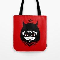hetalia Tote Bags featuring Demon Pru by Jackce