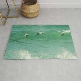 4 Dolphins Rug