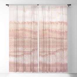 WITHIN THE TIDES BURNISH EARTH by Monika Strigel Sheer Curtain