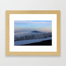 Glacier on top of Mt Kilimanjaro Framed Art Print