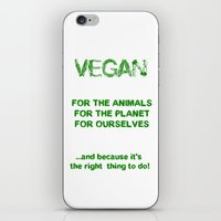 vegan iPhone & iPod Skins featuring Why Vegan? by VegArt