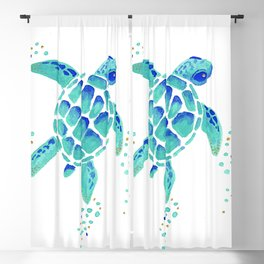 Neptune's Turtle Blackout Curtain