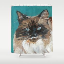 Tipper the Cat Portrait Shower Curtain