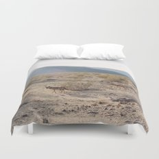 Panamint Valley Coyotes Duvet Cover