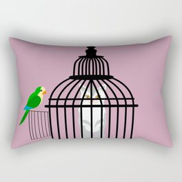 He can not enter, and she can not get out Rectangular Pillow