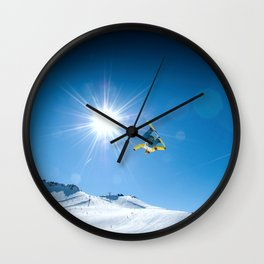 Snow time Wall Clock