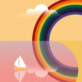 Notebook - Rainbow by the Sea - Andrei Popa