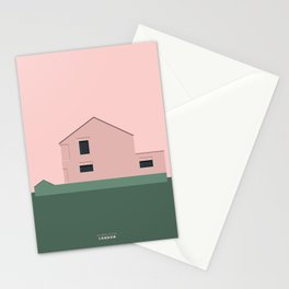 Pink House in London Stationery Cards