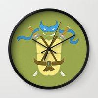 leonardo Wall Clocks featuring Leonardo by Laz Llanes