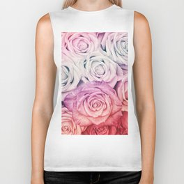 Some people grumble II  Floral rose flowers pink and multicolor Biker Tank
