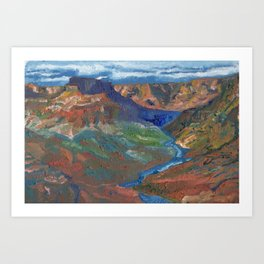 Grand Canyon Oil Painting Art Print