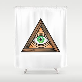 eye_01 Shower Curtain