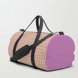 Geometric Block Print Pattern Duffle Bag