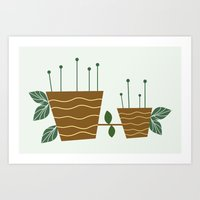 plants Art Prints featuring plants by aticnomar