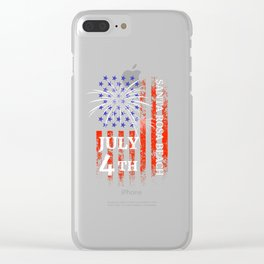 Santa Rosa Beach 4th of July Independence Day Clear iPhone Case