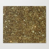 gold glitter Canvas Prints featuring Gold Glitter by NatalieBoBatalie