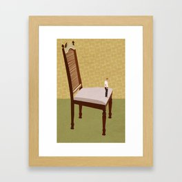 That's a big chair. Framed Art Print