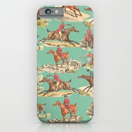 CRAZY HORSEMAN IN THE FIELD iPhone Case