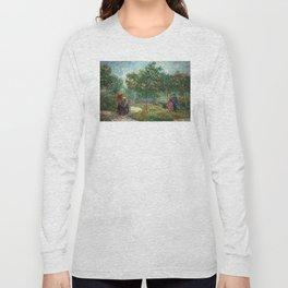 Vincent van Gogh - Couples in the Voyer d'Argenson Park at Asnières Long Sleeve T-shirt