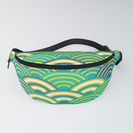 abstract scales simple Spring Nature background with japanese circle Fanny Pack