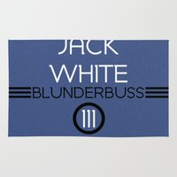 jack white Area & Throw Rugs featuring Jack White by Tanner Wheat