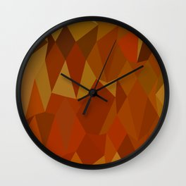 Pastel Orioles Orange Abstract Low Polygon Background Wall Clock