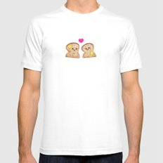 Toasty Love MEDIUM Mens Fitted Tee White