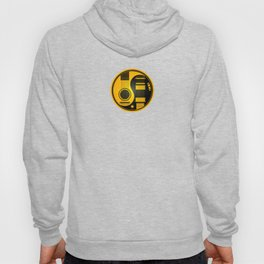 Yellow and Black Acoustic Electric Yin Yang Guitars Hoody