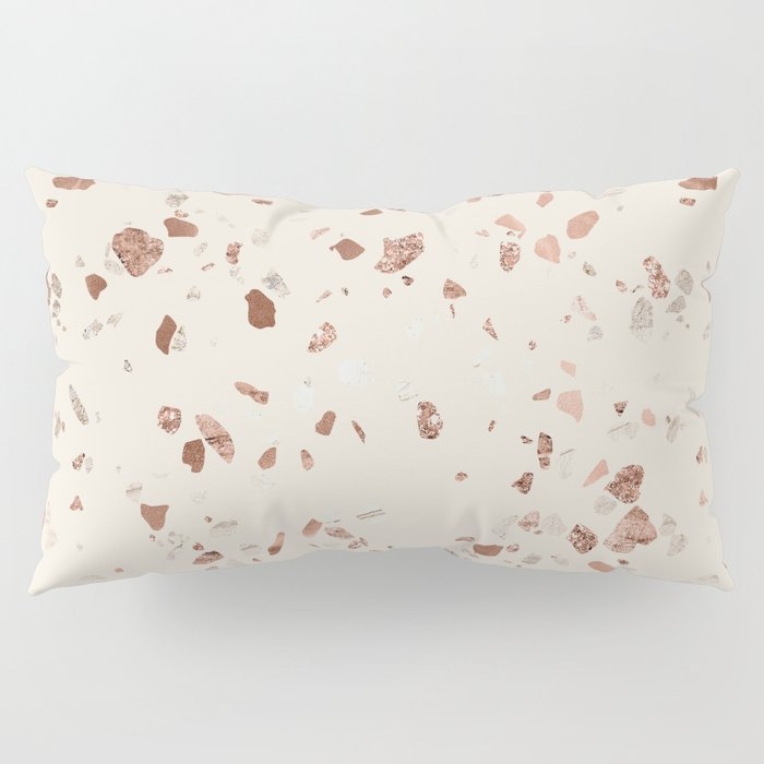 Rose Gold And Cream Terrazzo Pillow Sham By Followmeinstead
