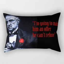 Don Vito Corleone The Godfather Rectangular Pillow