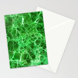 Emerald Green Marble Stationery Cards