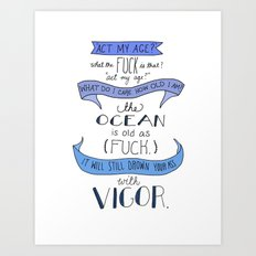 The Ocean..  Art Print