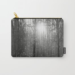 Black and White - In seed time learn, in harvest teach, in winter enjoy Carry-All Pouch