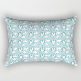 sleepy unicorns and clouds raining pattern Rectangular Pillow