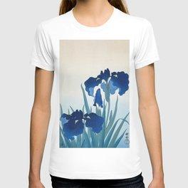 Ohara Koson - Iris flowers T-shirt